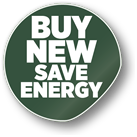buy new, save energy